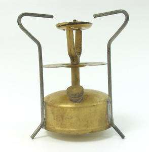 VINTAGE PORTABLE BRASS CAMP STOVE HEATER