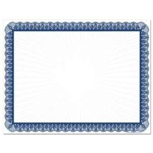 Blue Value Certificate Border Paper (100 Sheets): Office Products