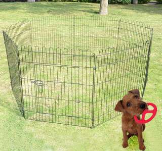 30 8 panel Pet Dog Cat Exercise Pen Playpen Fence Yard Kennel
