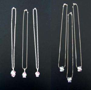 HELLO KITTY SILVER PLATED CHAIN NECKLACE ~ 7 DESIGNS