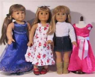 DOLL CLOTHES LOT fits AMERICAN GIRL DOLLS~ 4 Outfits & Shoes NEW #10