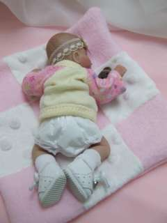 OOAK Sculpted Baby Girl Polymer Clay Art Doll Collectible Pooh
