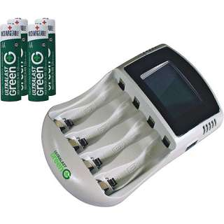 High Speed Charger with 4 AA High Power NiMH Batteries Batteries
