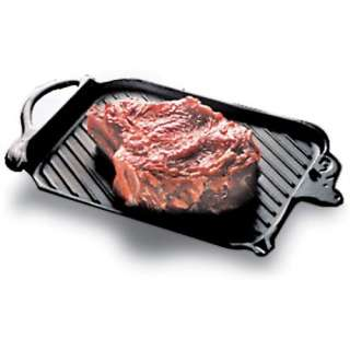 Paderno World Cuisine 14 1/4 Cast Iron Steak Grill