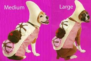 Sweet Banana Split Ice Cream Sundae Dog Costume M/L
