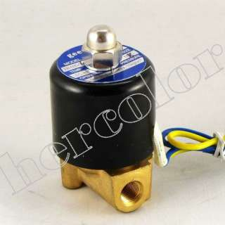 12V 1/8 Electric Solenoid Valve for Air Water Gas Oil