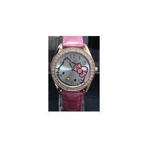 Cute Crystal Diamond Hello Kitty Watch,Gold&Pink