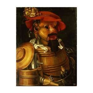 Giuseppe Arcimboldo   The Waiter Winemaking Giclee