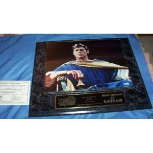 KARL URBAN CEASAR XENA AUTOGRAPHED LARGE PLAQUE COA