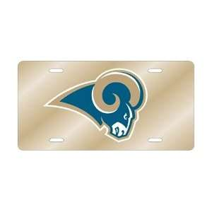 Americans Sports St. Louis Rams Laser Cut Gold License