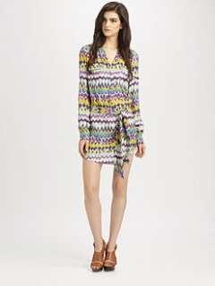 Haute Hippie   Double Pocket Silk Shirtdress