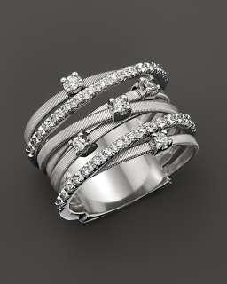 Marco Bicego Goa 18K White Gold and Diamond Ring, 0.4 ct