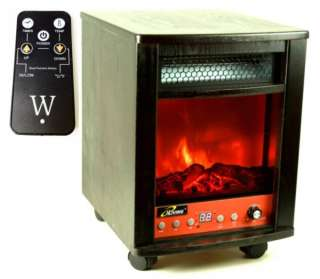 1500 Watts Electric Infrared Portable Fireplace Space Heater & Remote