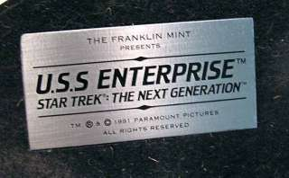 Star Trek Franklin Mint  Enterprise 1701 D Pewter Ship