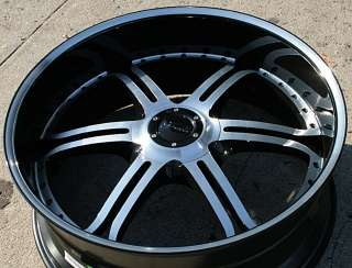 GIANELLE MALLORCA 26 GLOSS BLACK RIMS WHEELS BMW 745 750 760