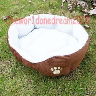 Indoor Dog Puppy Cat Pet Soft Fleece Winter Warm Bed House Soft Pad