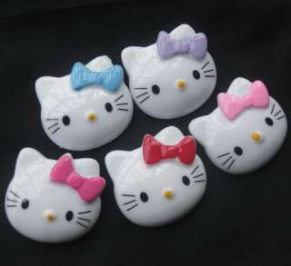 Hello Kitty resin flatback buttons appliques/craft DIY kids doll B142