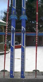 KIDS Cross Country 62 Skis 3 pin 160 cm +Poles NORVIK