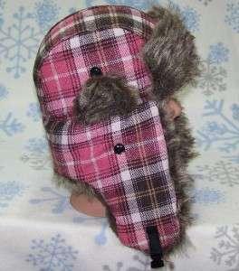 Plaid Bomber/Russian Winter Ear Flap Hat,Ski,Earflap,Cap,Trapper,# 173