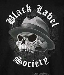 Black Label Society Skull heavy metal rock T Shirt M L NWT