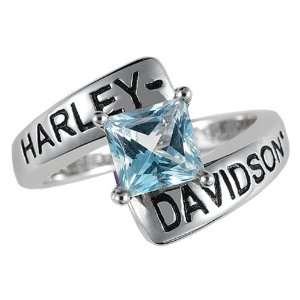 com Sterling Silver Harley Davidson Ladies Crossroads Birthstone Ring