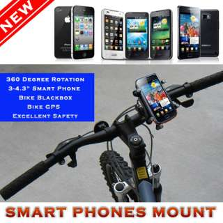 Smart Phone Bike Cycle Bicycle Mount Holder iPhone 3,4 Samsung Galaxy