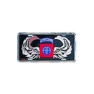 US Army 82nd Airborne AA Jump Wings License Plate Automotive