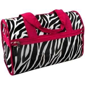Zebra Duffle Bag with Red Trim *Great Overnight Bag