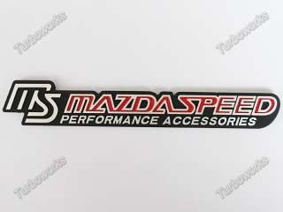 MAZDASPEED STICKER Emblem Badge Decal RX7 RX8 MAZDA3 6
