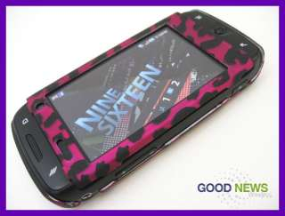 for T Mobile Samsung Sidekick 4G   Hot Pink Leopard Rubberized Hard