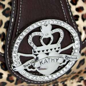Kathy Van Zeeland Animal Print Gold Leopard Crown Princess