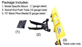 Can Am Commander Snow Plow Kit with 72 Blade   Made in USA   Free