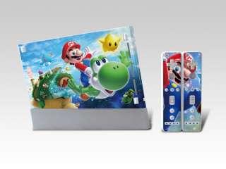Super Mario Sticker Skin Cover for Nintendo Wii Console