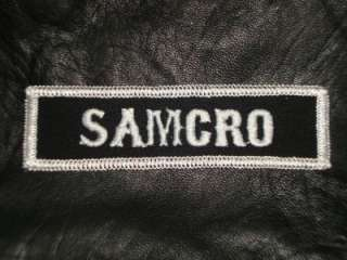 SAMCRO   MOTORCYCLE ANARCHY SONS OF BIKER PATCH