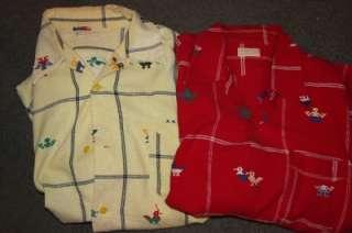 Lot 2 Hand Woven Cotton La Regional Mens Large Shirts
