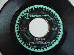 RITCHIE VALENS 45 DONNA/LA BAMBA DEL FI 411O 1950S