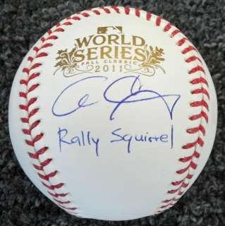 Cardinals ALLEN CRAIG Signed 2011 World Series Baseball w/Rally
