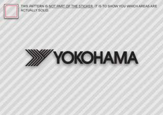 12 YOKOHAMA Sticker Decal Die Cut