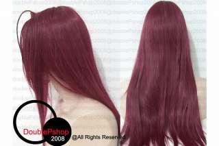 Saiyuki reload Gojyo Claret Red Wig Cosplay 80cm styled