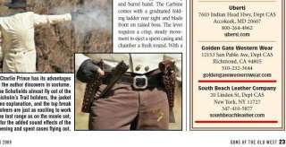 AS SEEN IN GUNS OF THE OLD WEST MAGAZINE SouthBeachLeather Made this
