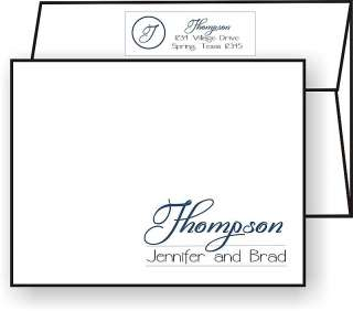 Personalized FAMILY NAME MONOGRAM Note Cards Stationery