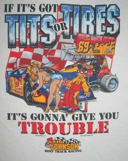 Big Johnson T Shirt Dirt Track Racing
