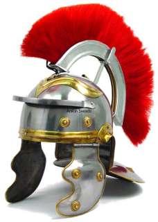 Metal Medieval Roman Centurion Knight Helmet Armor**