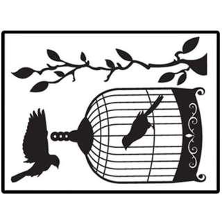 Bird Cage Adhesive WALL STICKER Removable Graphic Decal