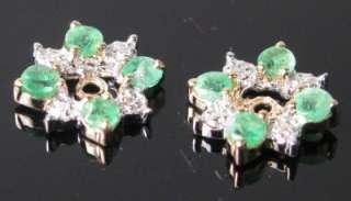 HiEnd 14K Yellow Gold 1/2ctw Emerald & Diamond Earring Jackets Retail