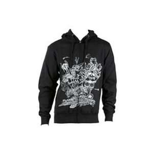 TROY LEE DESIGNS INDY MEDUSA FLEECE HOODY (MEDIUM) (BLACK